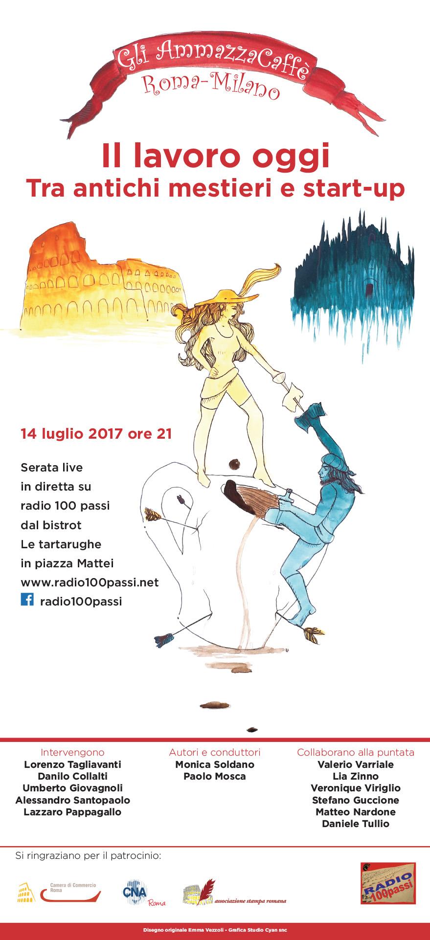 """""""Gli AmmazzaCaffè Roma-Milano"""", il nuovo progetto radiofonico di Radio 100 passi"""
