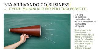 """Federlazio presenta l'iniziativa """"Go, Business!"""""""