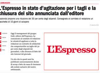 espresso sciopero